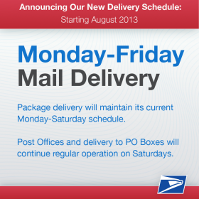 A notice that USPS posted on their Facebook page on Wednesday.