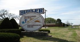 Buhler city sign