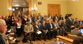 Opponents and supporters of the bill packed a committee room at the Kansas Statehouse.
