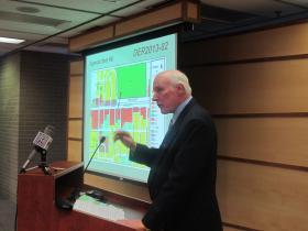 David Gittrick of Kansans for Life addresses the Wichita Metropolitan Planning Commission Thursday.