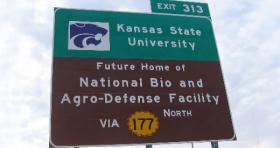 NBAF sign on I-70, near Manhattan