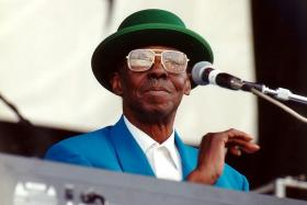 Pinetop Perkins at the Riverwalk Blues Festival in Fort Lauderdale.