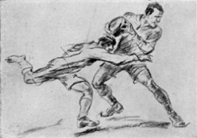Award winning drawing from 1928 Olympic art competitions.