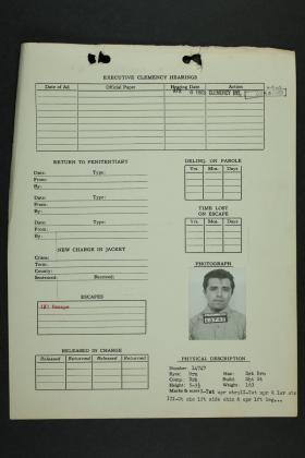 A file from Perry Smith's clemency hearings.