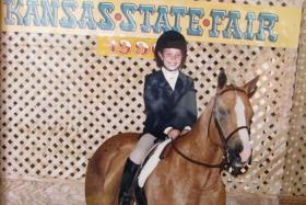 Amanda Conner began riding horses and competing as a young girl.