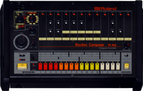A Roland TR-808 was used by many new artists in the early 1980s because of its affordability.