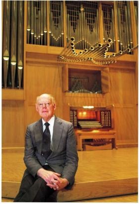 Robert Town and the Marcussen organ at Wichita State University
