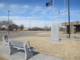 Word War II Memorial in Wichita's McAdams Park