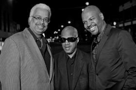"""Bluesy jazzists"" Deep Blue Organ Trio. Left to right, Greg Rockingham, Chris Foreman and Bobby Broom"