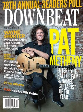 Metheny on the Dec. 2013 cover of Downbeat magazine