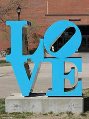 """LOVE"" found on the Wichita State campus"