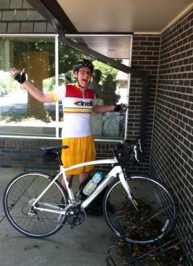 KMUW's Fletcher Powell is excited about riding his bike to work.