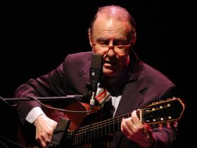 Brazilian singer and guitarist Joao Gilberto