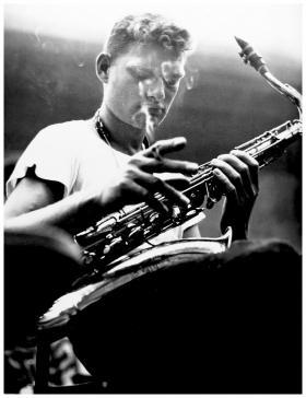 "Saxophonist John Haley ""Zoot"" Zims"