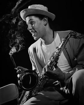 Jazz saxophonist Dexter Gordon