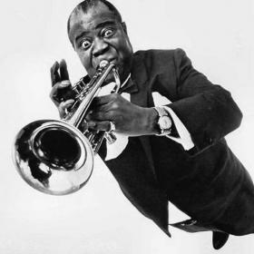 "Legendary jazz trumpeter Louis ""Pops"" Armstrong"