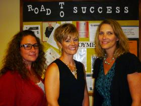 Dawn Sheplar, Meredith Butler and Sally Frey are all working together to reduce corrections fatigue in the Kansas Department of Corrections.