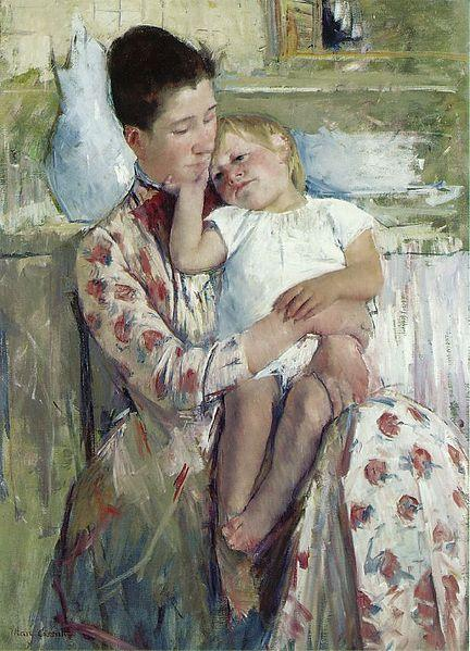 "Mary Cassatt's ""Mother and Child"" (1890) is currently in the Roland P. Murdock collection at the Wichita Art Museum."