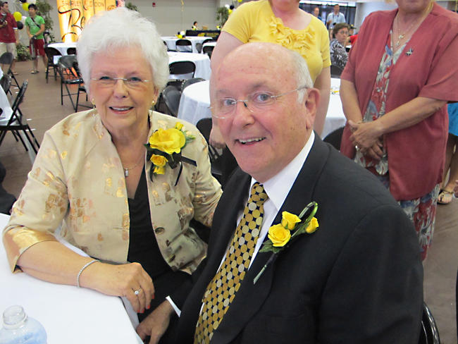 Don Beggs, shown with his wife, Shirley, retired as president of Wichita State University in 2012.