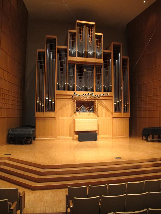 WSU's world-famous 4,600-pipe Marcussen organ in Wiedemann Hall.