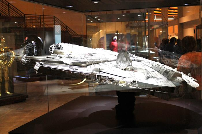 A model of the Millennium Falcon.