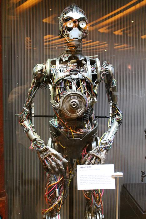 A version of C3-PO without his outer coverings, called 'Naked C3-PO'.