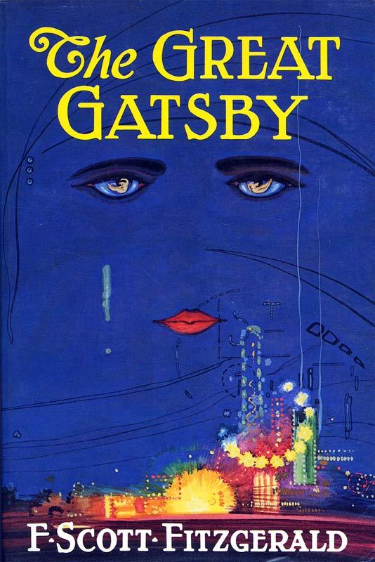 The original cover of The Great Gatsby by F. Scott Fitzgerald.