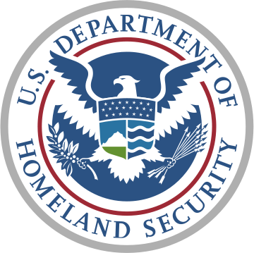 The Seal of the United States Department of Homeland Security.