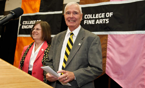 WSU President John Bardo at the announcement of his selection.