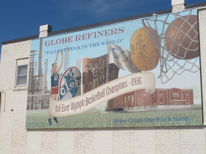 A commemorative mural in downtown McPherson.