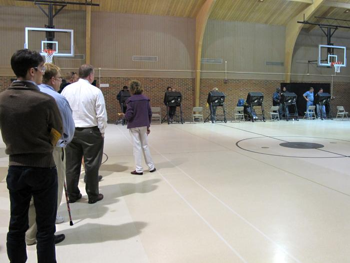 Edgemoor Recreation Center stayed busy with voters Tuesday.