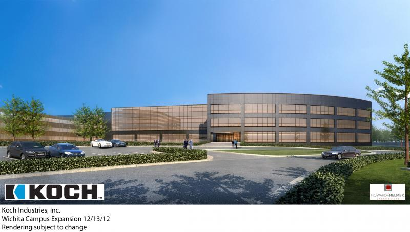 A rendering of the planned expansion at Koch Industries.
