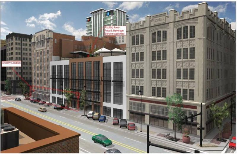 Artist renderings of the proposed Exchange Place project.