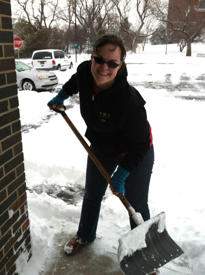 Morning Edition Host Kate Clause had to pull double duty this morning, bringing you the news and shoveling the walk.
