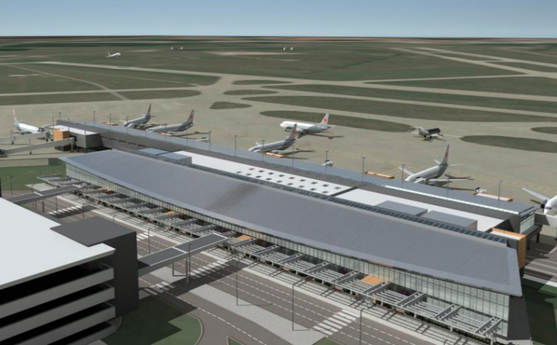Illustration of new terminal.
