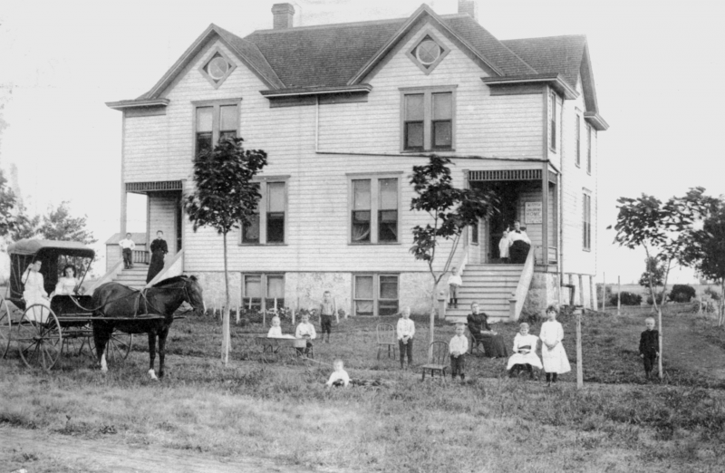 The Wichita Children's Home was founded in 1888 as Wichita's first orphanage to support and care for destitute and homeless children.  The home was originally located on the block near 100 N. Fountain.