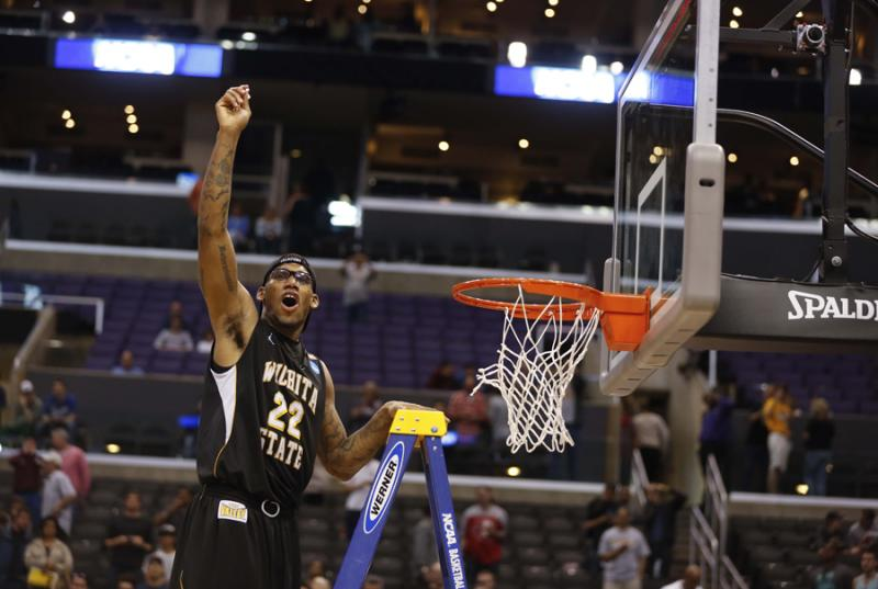 Carl Hall celebrates in Los Angeles, Calif., March 30.