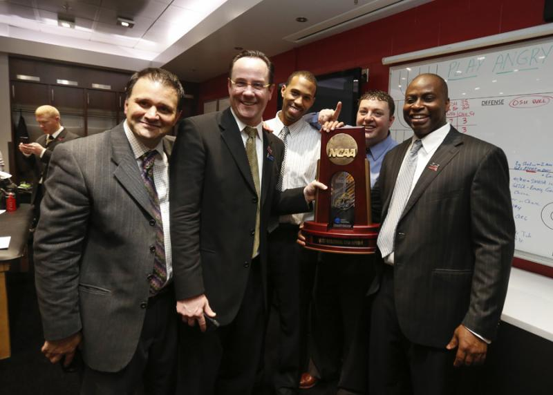 WSU coaching staff in Los Angeles, Calif., March 30.