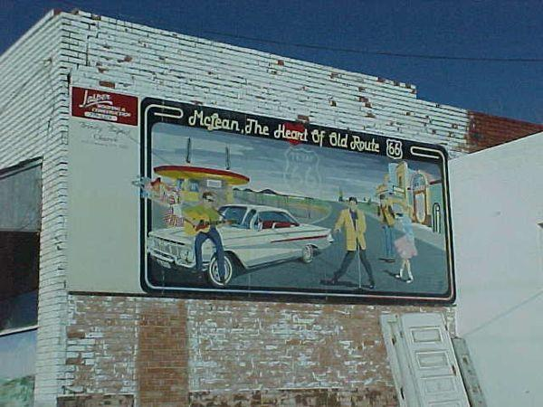 Mural in McLean, Texas, in 2000