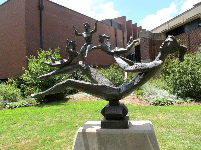 "The first piece installed in the WSU sculpture collection was ""Happy Mother"" by Chaim Gross"