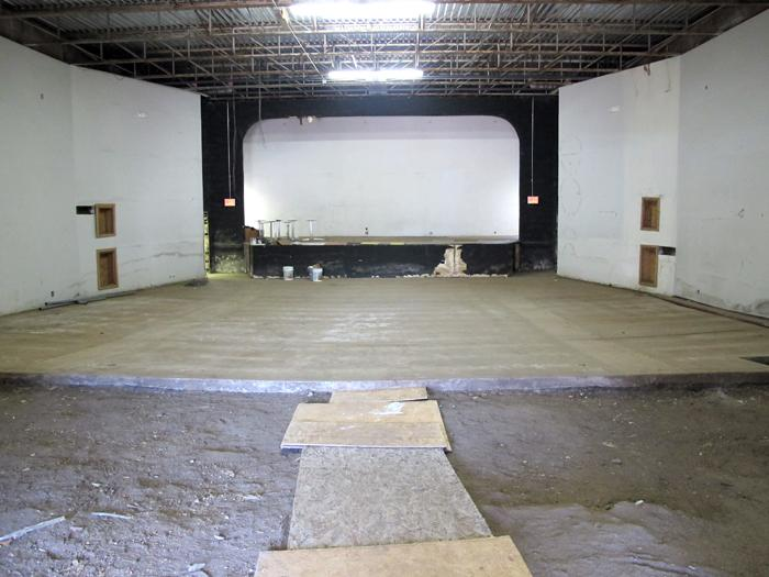The interior of the Dunbar Theater that has been the current focus of renovations.