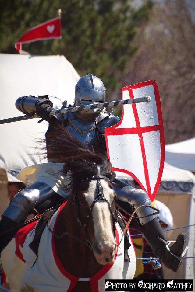 The sound of clashing armor can be heard around Jousting Evolution's performance.