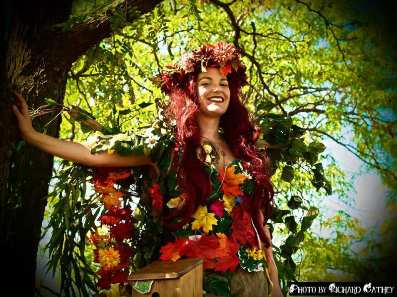 Standing at 8-feet tall, Mother Nature can be seen roaming around the festival.