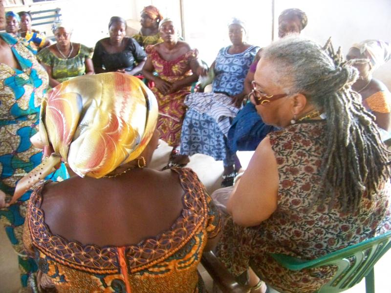 A meeting with the Krobo Queen Mothers.