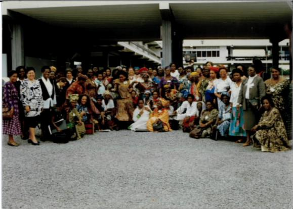 The African delegation at an international women's conference in Beijing.