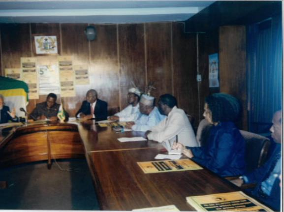 The meeting of the first African Union in Ghana