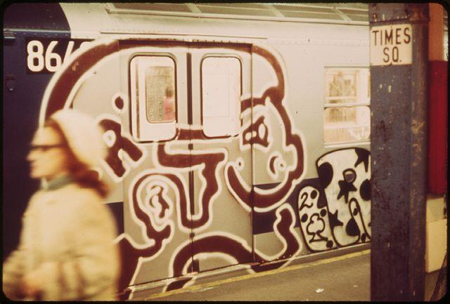 New York subway graffiti (1973)