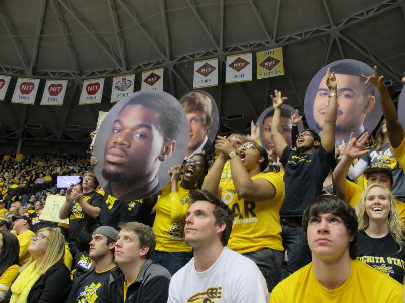 """The energy is out of this world...you walk in (to Charles Koch Arena) and all of the sudden you're one with everyone in there,"" WSU student Holly White says."
