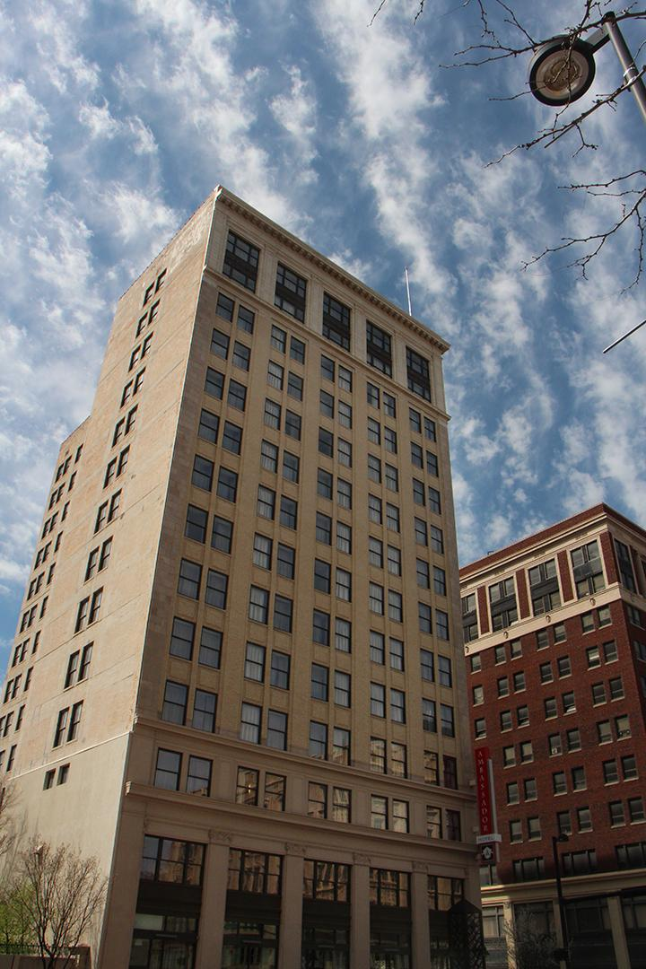 The newly renovated Ambassador Hotel - which was funded jointly by the city of Wichita and private developers.