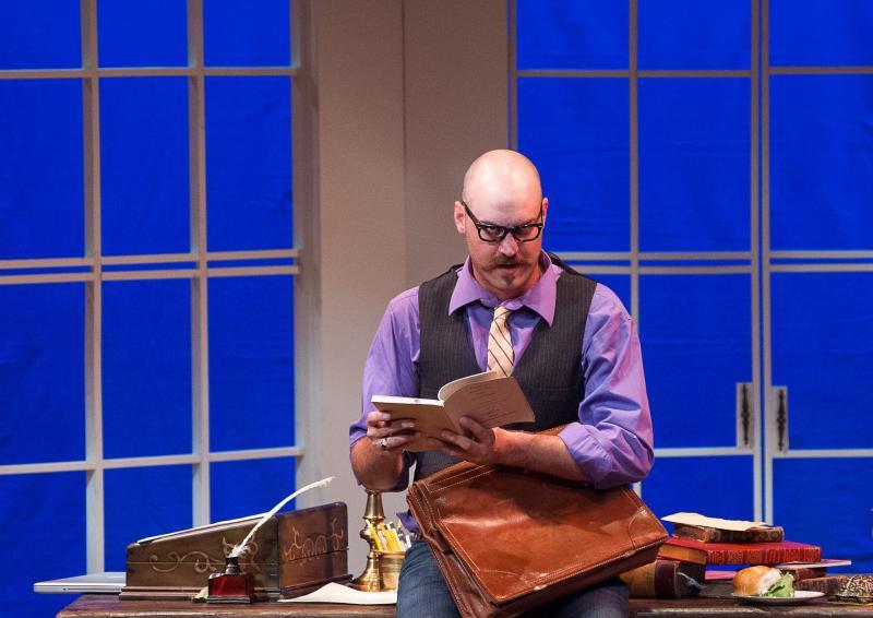 Chris Maslen as Bernard Nightingale in Top Stoppard's Arcadia